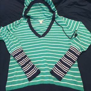 Maurices hooded Sweater stripe green navy xxl